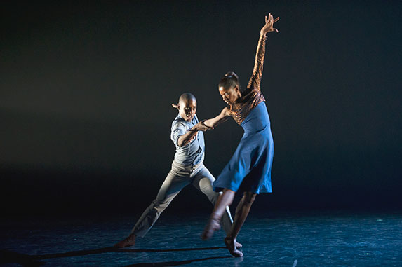 Ballet Black Joseph Poulton and Cira Robinson in Martin Lawrance's 'Captured'