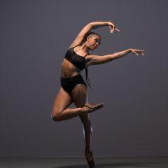 Isabela Coracy, Ballet Black Season shoot at Ballet Black's Studio, London on November 14 2017. Photo: Arnaud Stephenson