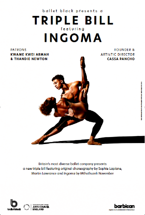 Ebony Thomas & Marie Astrid Mence of Ballet Black in Mthuthuzeli November's 'Ingoma'