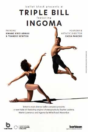 Isabela Coracy & Jose Alves of Ballet Black in Mthuthuzeli November's 'Ingoma'