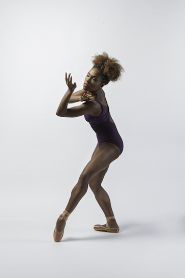 Marie Astrid Mence wearing Freed's Ballet Bronze Pointe Shoes