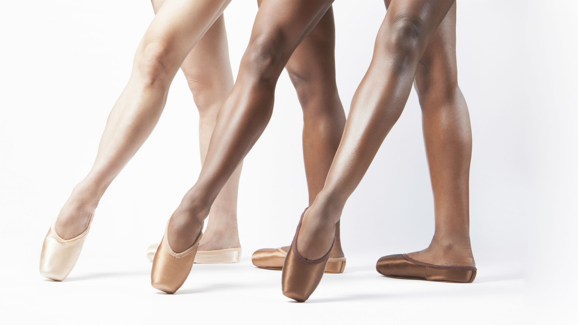 Freed of London Ballet Black Pointe Shoes Brown Bronze
