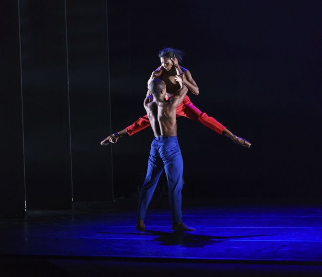 Cira Robinson & Jose Alves of Ballet Black performing in CLICK! by Sophie Laplane