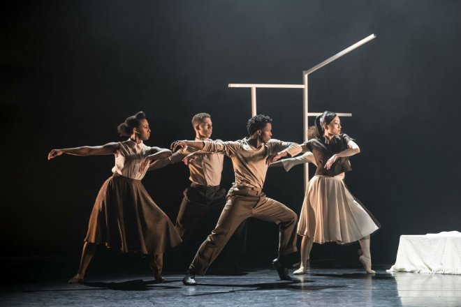 The Ballet Black Company performing in Cathy Marston's The Suit