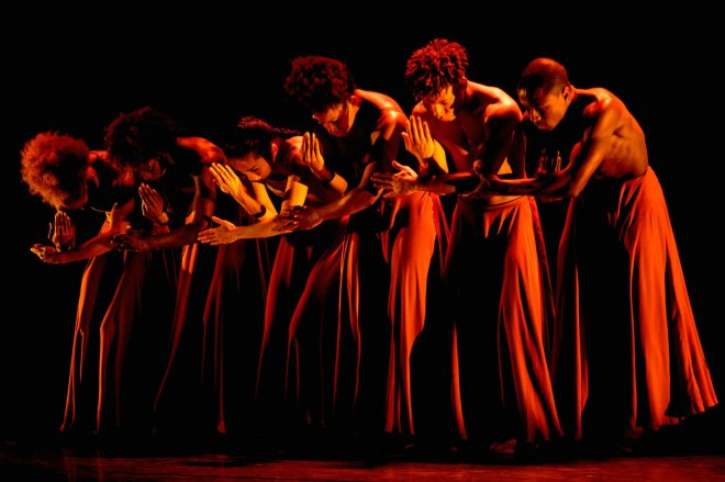 The Ballet Black company performing WASHA: The Burn From The Inside by Mthuthuzeli November